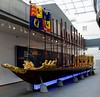 Prince Frederick's barge, National Maritime Museum, Greenwich, 27 January 2015 1.  State barge built in 1732 for the eldest son of King George II.  Frederick (1707 - 1751) died before his father and never succeeded to the throne.  But Frederick's eldest son became King George III.