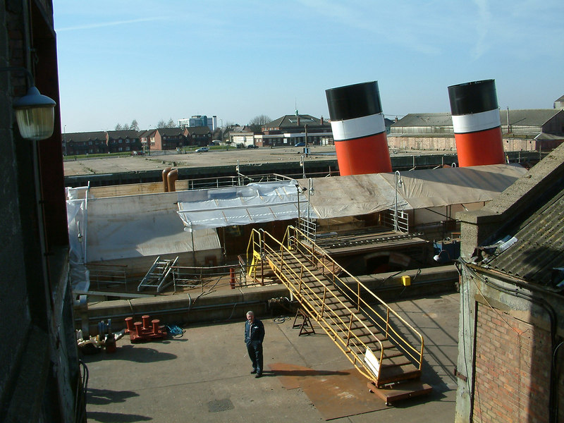 General view during Phase II in March 2003