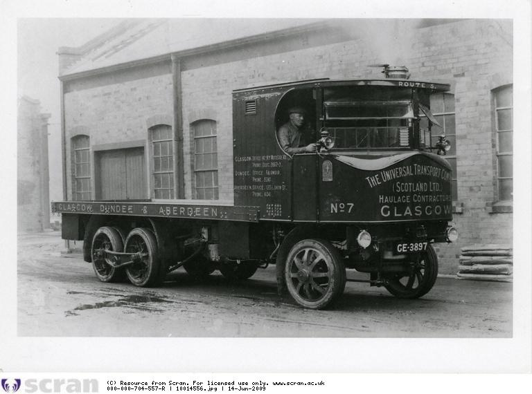 """In 1915 a young Glasgow draughtsman, Arthur Thomson, joined Alley & MacLellan working on the development of a new 'Super Sentinel' wagon. In the following years Stephen Alley (son of the co-founder) was increasingly at odds with his fellow board members over the long term effects of the company's large contribution to the War effort. In 1918 he sold his share in Alley & McLellan and moved the production of the steam wagon to a new factory in Shrewsbury. Arthur Thomson also made the move south and became the chief designer, responsible for developing the 'Super Sentinel' wagon, a typical example of which is shown above. The new outfit at Shrewsbury was initially named the 'Sentinel Steam Waggon Co (with two 'g' in Waggon). The name was changed slightly on a number of occasions and it became part of Rolls Royce in 1971. Its product range developed significantly over the years. See<br />  <a href=""""http://en.wikipedia.org/wiki/Sentinel_Waggon_Works"""">http://en.wikipedia.org/wiki/Sentinel_Waggon_Works</a><br /> <br /> ©Scottish Motor Museum Trust. Licensor  <a href=""""http://www.scran.ac.uk"""">http://www.scran.ac.uk</a>.<br /> <br /> Go to the following website to read the fascinating story of the Sentinel Steam Waggon No 5676, built in 1924 and now owned by Ken Henderson. It is now based at the Summerlee Industrial Heritage Museum. <br />  <a href=""""http://www.sentinelsteamwaggon.org.uk/index.html"""">http://www.sentinelsteamwaggon.org.uk/index.html</a>"""
