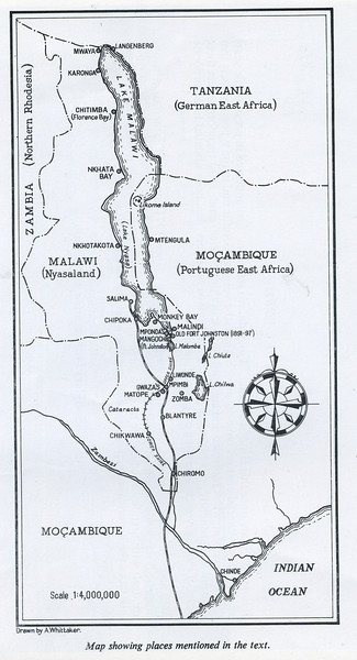 Lake Nyasa (now Lake Malawi) is about 350 miles long (about 15 times the length of Loch Lomond) and 40 miles across, making it the eighth largest inland lake in the world . Chauncy Maples was originally assembled at Mponda's and is based at Monkey Bay<br /> <br /> As land movement is difficult, the Chauncy Maples, once converted, will greatly improve the distribution of medical care and facilities