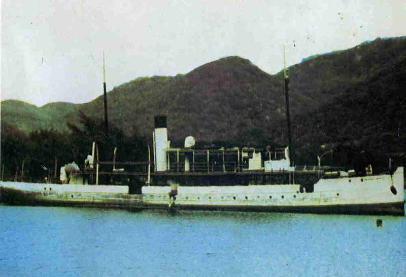 This view of the SS Chauncy Maples comes from a history of the Lake Malawi Steamers published by the Malawi Government Ministry of Education and Culture in 1971. Orginally, the Chauncy Maples was built to replace a smaller steamer ,named Charles Janson, whiich had been built by the Thames-based shipbuilder Yarrow & Co in 1884 (Yarrow subsequently transferred their shipbuilding business from Millwall on the Thames to Scotstoun in Glasgow in 1906)  After spending 52 years on missionary work, in 1953, the Chauncy Maples was sold to a fishing company and in 1965 she was purchased by the Malawi Railway. Consequently, the ship was significantly altered and her steam engine and boiler was removed and replaced by a Crossley diesel engine. It is stated that the original  Alley & MacLellan steam engine was moved to the Lake Malawi Museum at Mangochi.