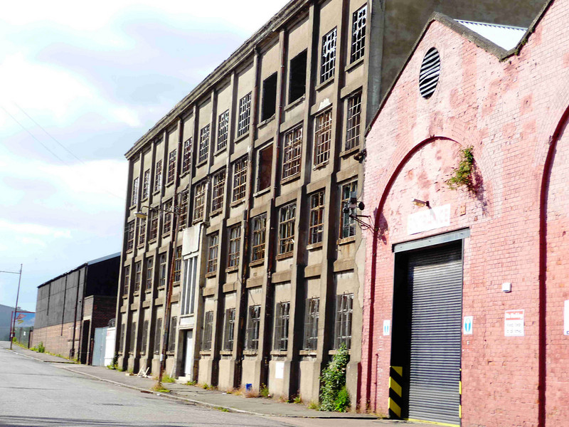 Alley & MacLellan's former Sentinel Works, Jessie Street, Glasgow on 14th June 2009. <br /> <br /> A view of the former pattern shop of Alley & MacLellan, the building is now severely vandalised and neglected and must be regarded as under threat despite its listed status