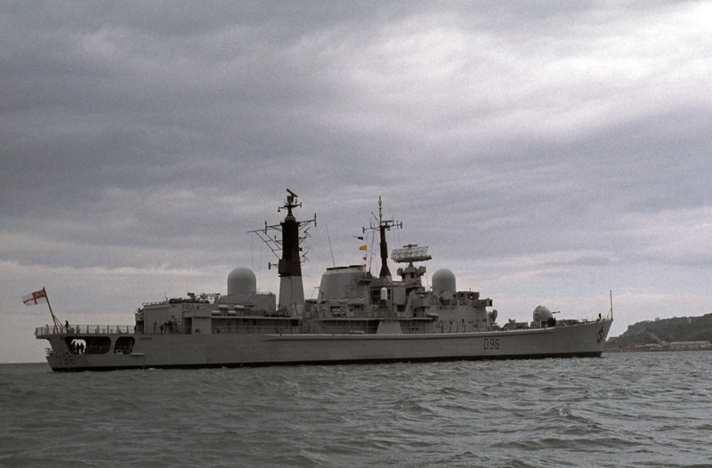 HMS Gloucester, Portland, 1990 1.  Type 42 destroyer completed in 1984 and decommissioned in 2011.