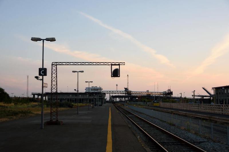 Rodby Faerge station, Denmark, Thurs 16 July 2015 2