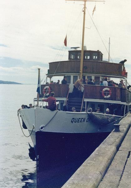 Queen of Scots alongside Dunoon pier, 29 July 1977