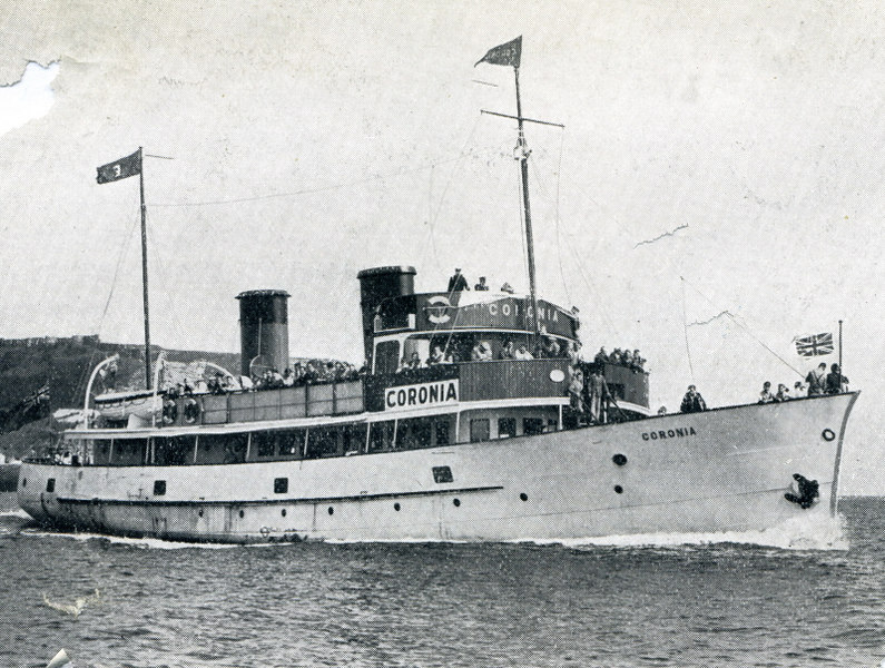 In the 1930s the small motorship Coronia was built to operate excursion sailings along the Yorkshire coastline from Scarborough
