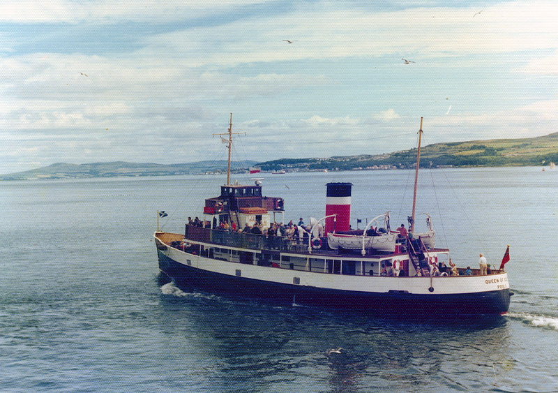 Queen of Scots leaving leaving Dunoon for Glasgow