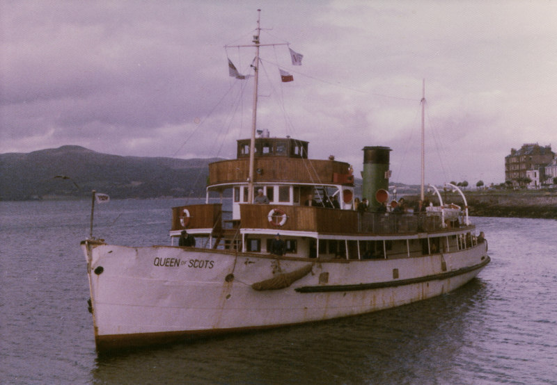 A short time after her arrival on the Clyde, MacAlpine renamed her Queen of Scots and her funnel was painted in their corporate green livery