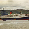 QE2 moving off the berth<br /> <br /> Picture by Stuart Cameron