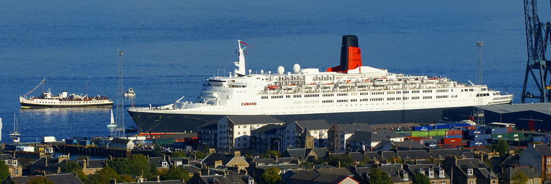 Balmoral  and QE2 at Greenock