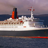 QE2 rounding Cloch Point  for the last time in daylight