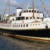 Balmoral returned to Greenock Customhouse Quay just before QE2 was berthed - she had to unload quickly and set off quickly for Glasgow to bring the first contingent of liner watchers down river.