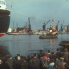 Along with the shoreside spectators, the passengers on the steamers Caledonia and Duchess of Hamilton were captivated by the memorable spectacle.<br /> <br /> Picture by the late Mr William Davies