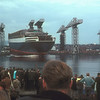 Queen Elizabeth 2 enters the River Clyde<br /> <br /> Picture by the late Mr William Davies
