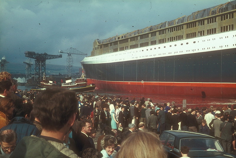 Did the crowds realise that this once familiar activity on the River Clyde, birthplace of over 23,000 ships, would become a rare event in the coming years?<br /> <br /> Picture by the late Mr William Davies