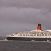 An entourage of small craft started to escort the regal vessel seawards<br /> <br /> Picture by Stuart Cameron