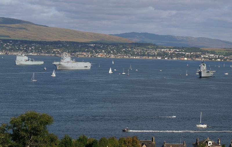RFA Mounts Bay, FNS Tonnerre and HMS Ark Royal
