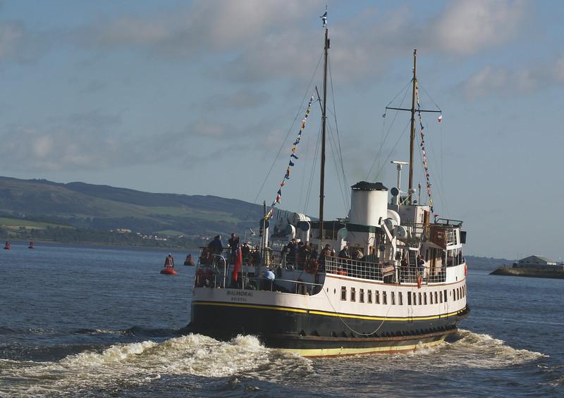 Balmoral heading for Glasgow Plantation Quay
