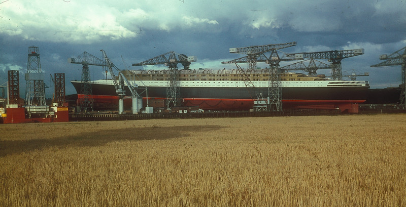 Viewed from Inchinnan a few days before the launch