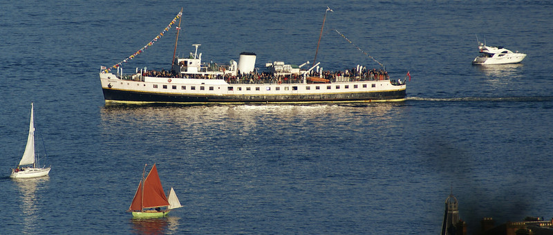 Her meeting with QE2 on 5th October 2008 brought Balmoral's 23rd season of sailings under the auspices of Waverley Excursions Ltd to a conclusion. Due to extremely bad weather Balmoral had experienced very poor trading conditions in 2008. Undoubtedly the final day of the season was the best with three almost capacity loadings.