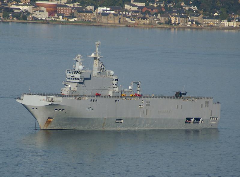 FNS Tonnerre and helicopter