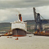 QE2 berthing at Greenock Ocean Terminal <br /> <br /> Picture by Stuart Cameron