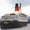 When QE2 made her third return to the Clyde, the paddle steamer Waverley gave good close views of the liner and accompanied her on her departure as far as Toward Point.<br /> <br /> Picture by Stuart Cameron