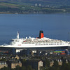 A final daylight view of Queen Elizabeth 2 on the Clyde - trully the end of an era