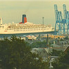 The liner at Greenock viewed from Lyle Hill<br /> <br /> Picture by Stuart Cameron