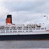 QE2 outward bound from Greenock for Reykavik<br /> <br /> Picture by Stuart Cameron