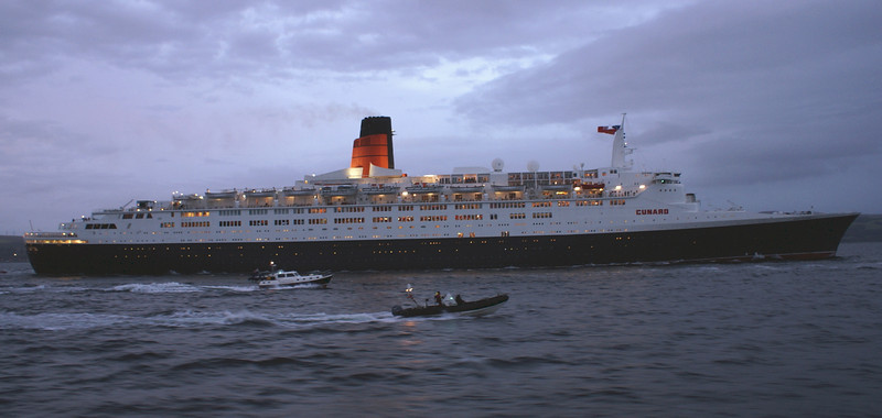 The escort continues towards the outer Firth<br /> <br /> Picture by Stuart Cameron