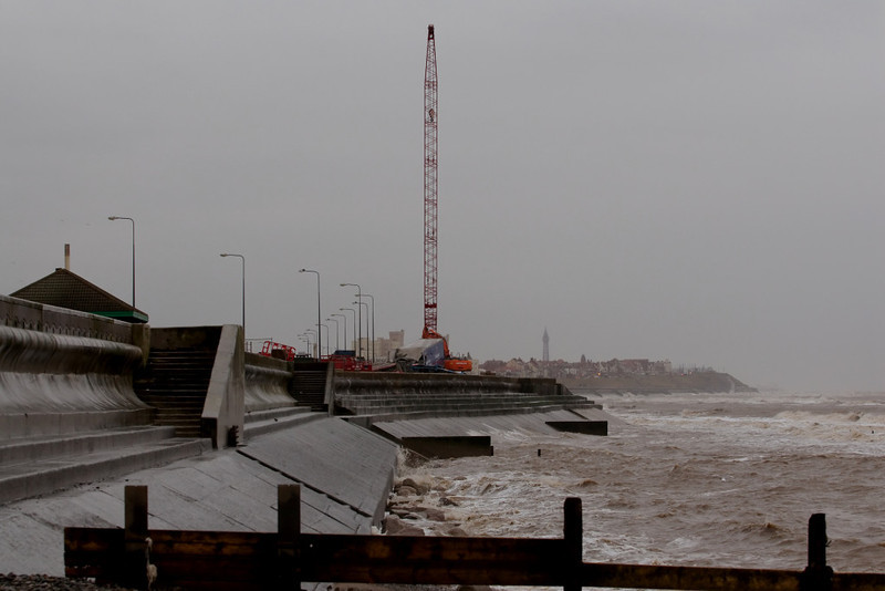 Riverdance salvage work site, Cleveleys, 25 February 2008 - 1537