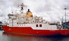Ice patrol ship HMS Endurance, Portsmouth, 4 August 2001. Still in service in 2013.