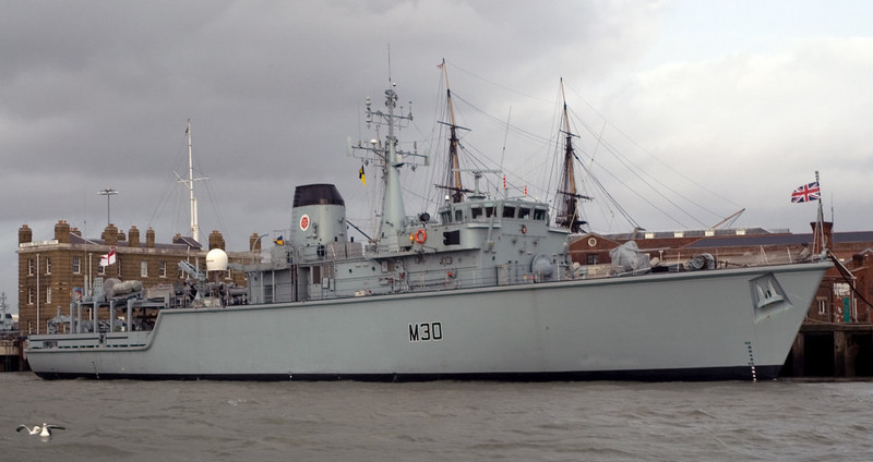 Hunt class MCMV HMS Ledbury, Portsmouth, 5 March 2007 1.  The mine counter-measures vessel was still in service in 2013.