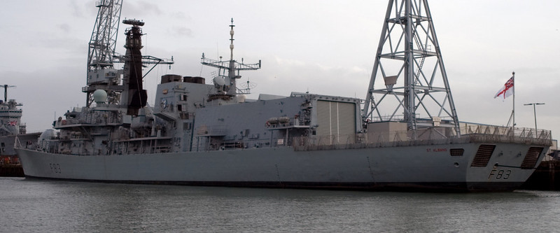 Type 23 HMS St Albans, Portsmouth, 5 March 2007 1.  Still in service in 2013.