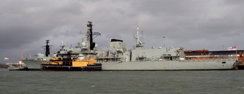 Type 23 HMS Richmond & TLC 1905, Portsmouth, 5 March 2007 1.  Richmond was still in service in 2013.