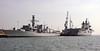 HMS Richmond & Illustrious, Portsmouth, 10 March 2014.