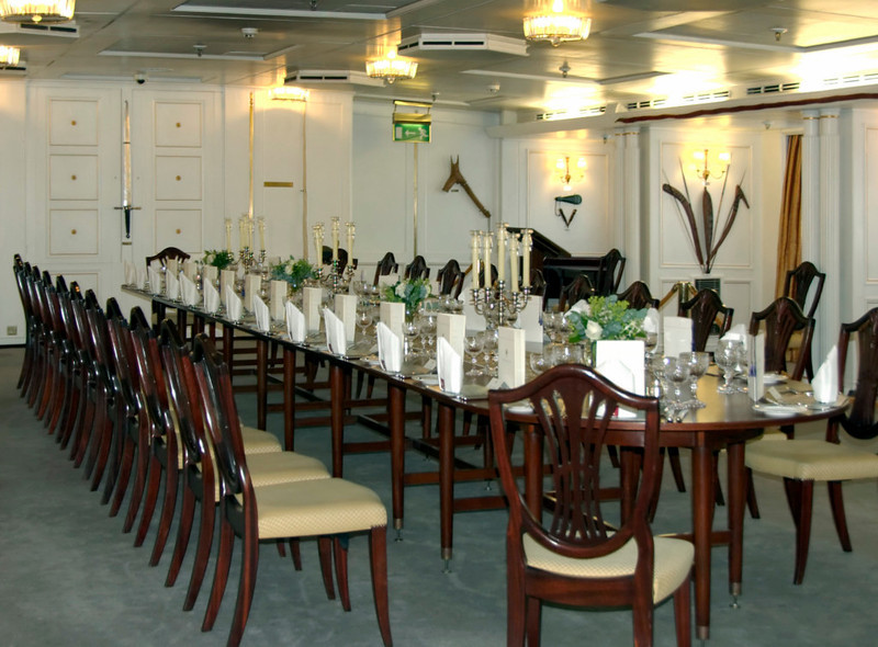 State dining room, Britannia, Leith, 14 October 2007 1