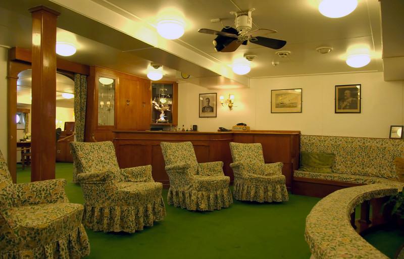 Anteroom to officers' wardroom, Britannia, Leith, 14 October 2007
