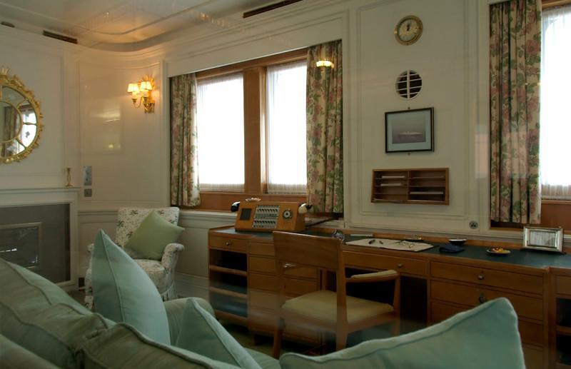 Queen's sitting room, Britannia, Leith, 14 October 2007