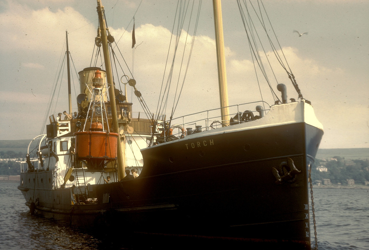 Photo by the late Mr William Davies<br /> <br /> Steamship Torch <br /> <br /> built by Ailsa Shipbuilding Company at Ayr <br /> Yard No 387<br /> Launched: Friday, 16/05/1924<br /> Ship Type: Lighthouse / Buoy Tender<br /> Tonnage: 117 nrt | 329 grt<br /> Length: 137 feet<br /> Breadth: 27 feet<br /> Draught: 10 feet