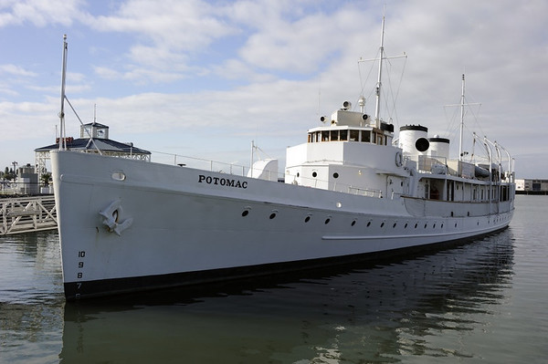 USS Potomac, Oakland, California, Mon 6 May 2013.  Former US Coast Guard cutter converted for use as a yacht by President Franklin D Roosevelt.
