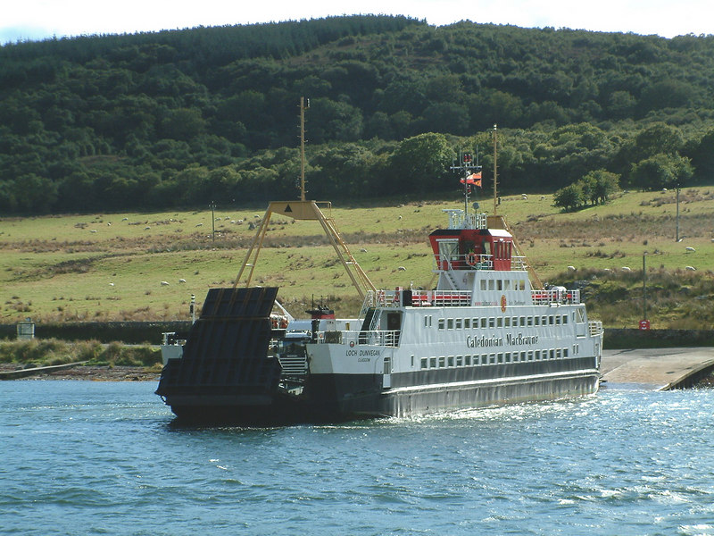 Loch Dunvegan, CalMac's regular ferry on the Colintraive-Rhubodach service across the east Kyle of Bute, she had originally been built for service across the Kyle of Lochalsh.
