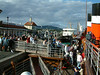 Waverley embarking passengers at Dunoon on Cowal Games Saturday