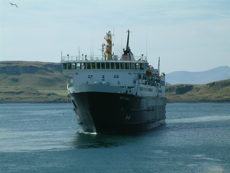 Isle of Mull approaching Oban Ferry Terminal