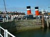 Waverley embarking passengers at Largs