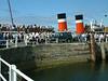 Waverley embarking passengers at Largs
