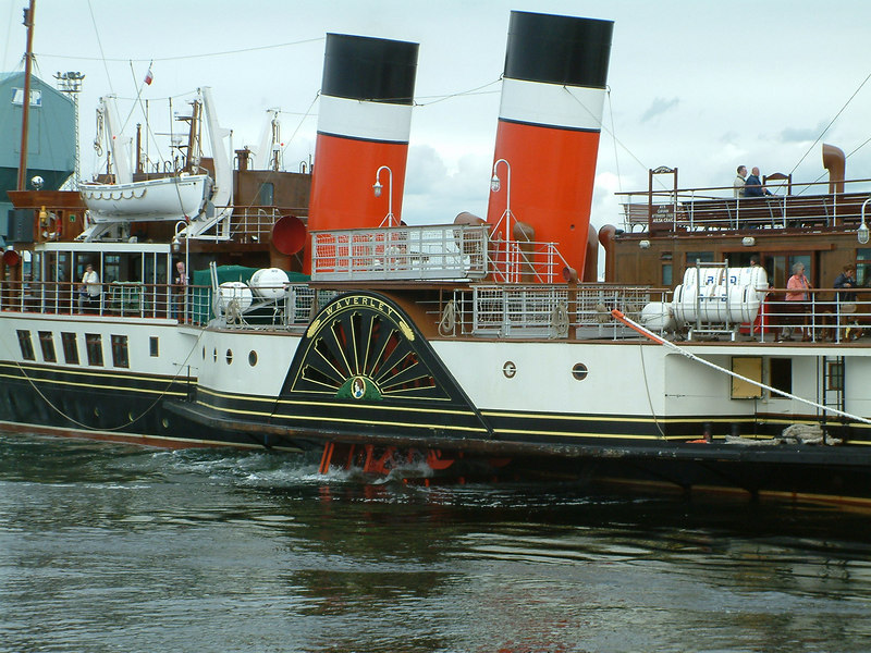 Waverley going astern to her berth at Ayr Compass Quay