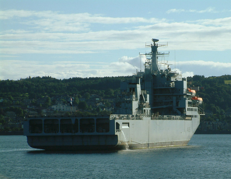 RFA Argus at anchor at the Tail of the Bank