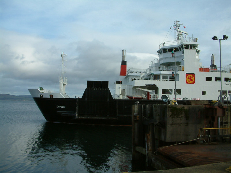 The new CalMac ferry Coruisk on her first, rather intermittent, period of Clyde service at Gourock Ferry Terminal